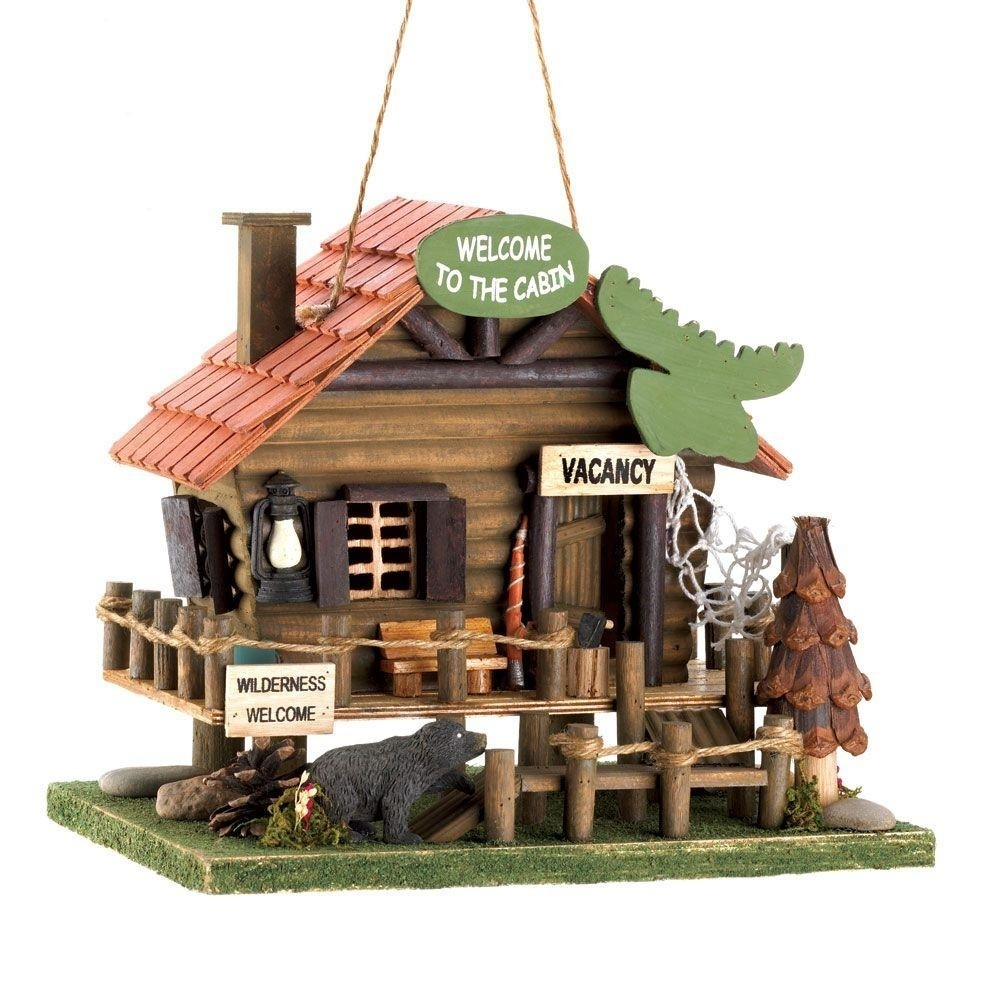 Welcome To The Cabin Birdhouse welcome to the ballroom 7