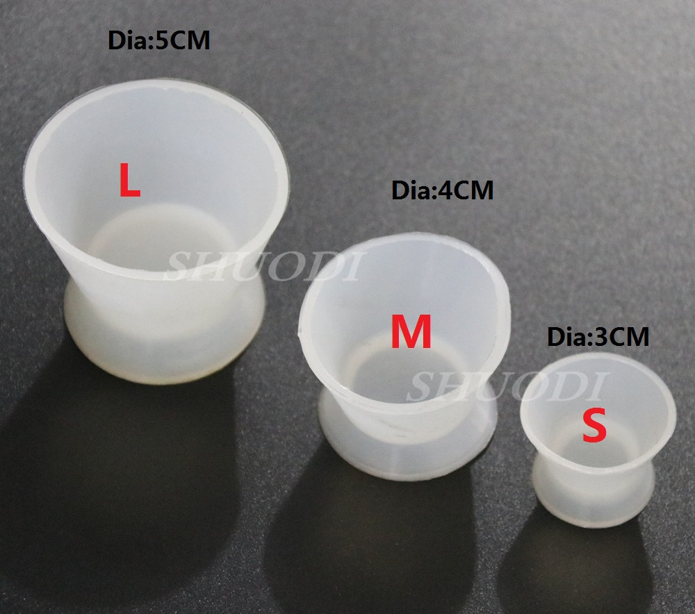 10 Pcs Dental Lab Silicone Mixing Bowl Cup Self-solidifying Cups Dentist Gifts Dental Tools Medical Equipment Rubber Mixing Bowl