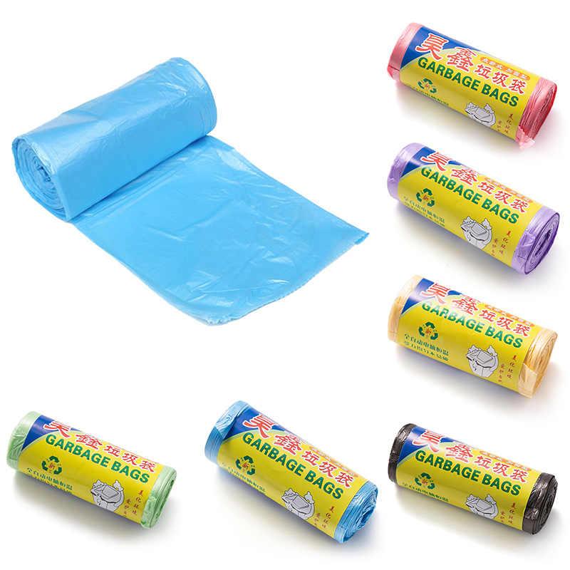 Rolos 1 50*45 cm Tamanho Sacos De Lixo de Cor Única de Espessura Conveniente Limpeza Ambiental Saco de Lixo Sacos De Lixo de Plástico