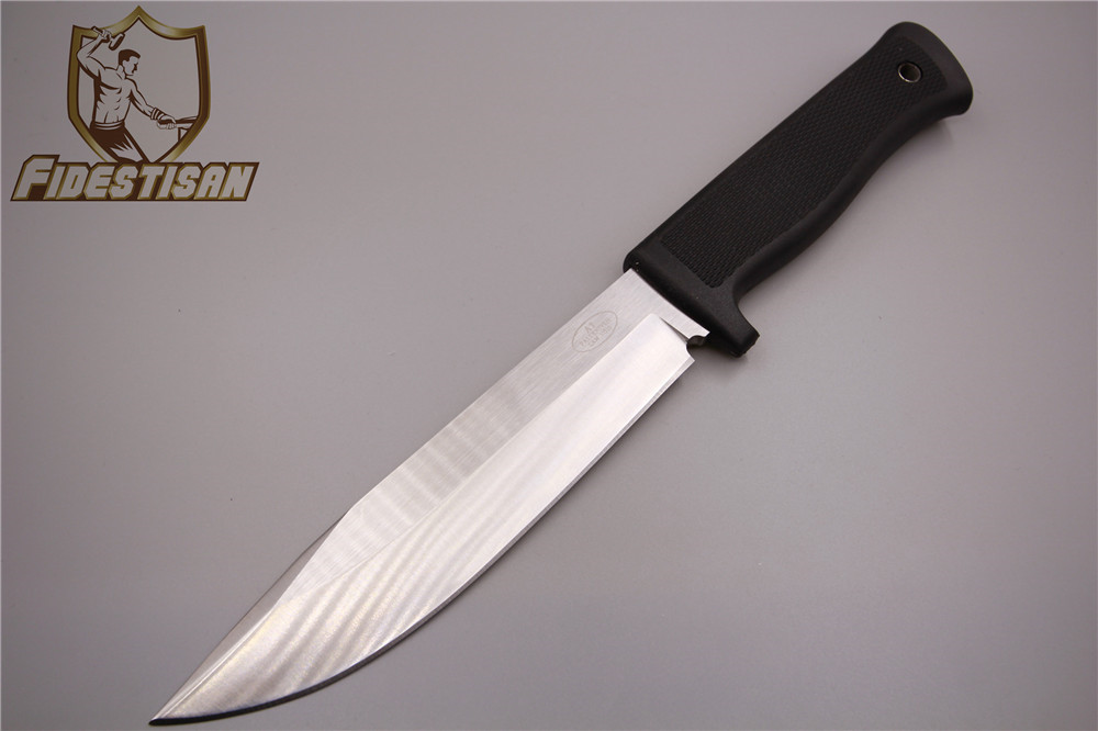 A1 Small straight knife 8Cr13 steel ABS sheath Matte surface 56HRC Outdoor survival camp ...