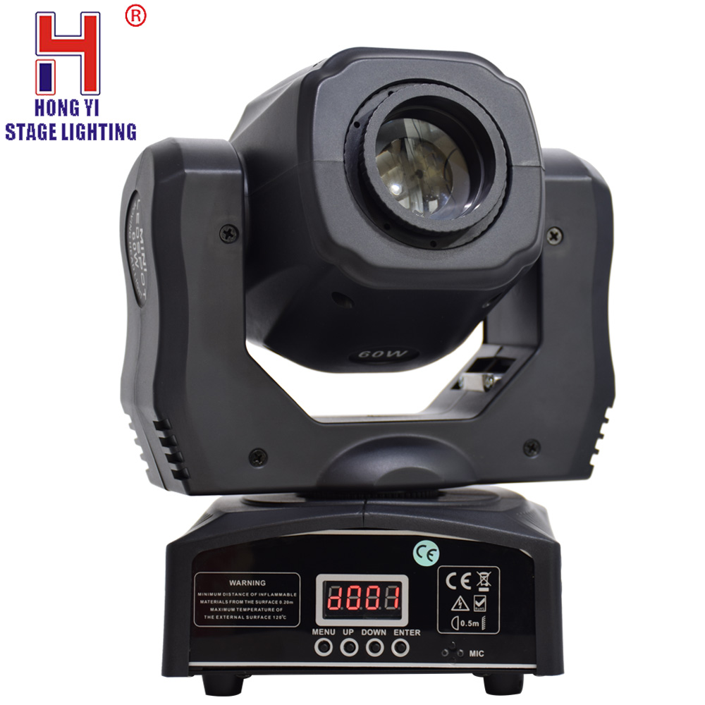 Mini spot 60w led moving head light with gobos plate color plate high brightness moving head