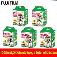 Оригинал Fujifilm Fuji Instax Mini Белый Фильм 100 Лист Мгновенный Фотобумага для Instax Мини 8 7 s 25 50 s 55 SP-1 Камеры свободный корабль