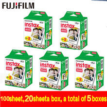 Original Fujifilm Fuji Instax Mini White Film 100 Sheet Instant Photo Paper For Instax Mini 8 7s 25 50s 55 SP-1 Camera free ship