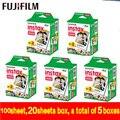 Original fujifilm fuji instax mini película en blanco 100 hojas de papel fotográfico instantánea para Instax Mini 8 7 s 25 50 s 55 SP-1 Cámara envío gratis