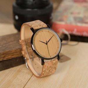 Image 3 - BOBO BIRD LE19 ไม้ไผ่ Dial แฟชั่นนาฬิกาไม้ Mujer ควอตซ์นาฬิกาหนังสแตนเลสนาฬิกาสำหรับสุภาพสตรี