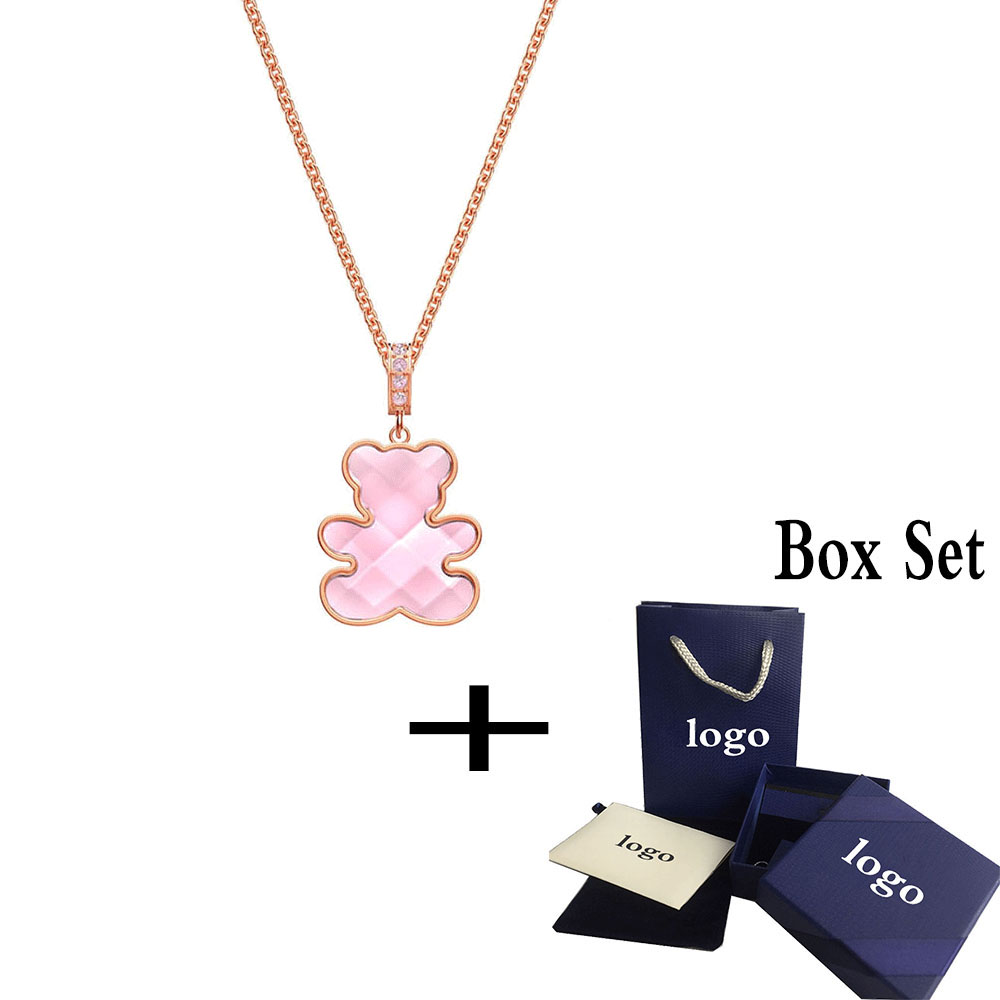 SWA RO 2019 Pop Charm Original New 5409512 Teddy Pendant Romantic Charming Bear Shape Crystal Female Engagement Jewelry Gift SetSWA RO 2019 Pop Charm Original New 5409512 Teddy Pendant Romantic Charming Bear Shape Crystal Female Engagement Jewelry Gift Set