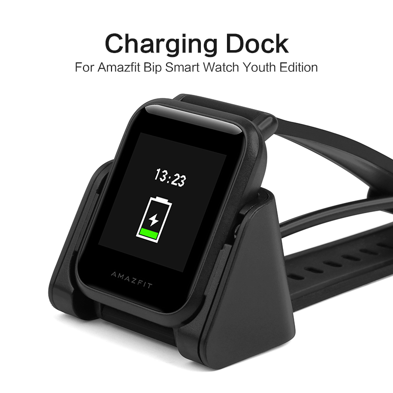 SIKAI Smart Watch Charging Dock For Amazfit Bip Charger Replacement Portable Magnetic Cradle for Xiaomi Huami Younth Smart Watch