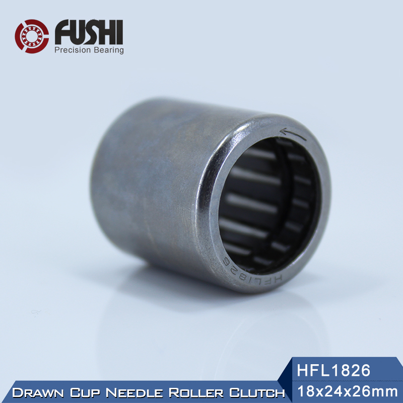 HFL1826 Bearing 18*24*26 mm ( 1 PC ) Drawn Cup Needle Roller Clutch FCB-18 Needle Bearing free shipping high quality 1pc hk303824 7942 30 drawn cup type needle roller bearing 30x38x24mm