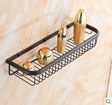 Высокое качество латунь мазут почищенные 45 см длины ванная полки корзину держатель аксессуары для ванной комнаты