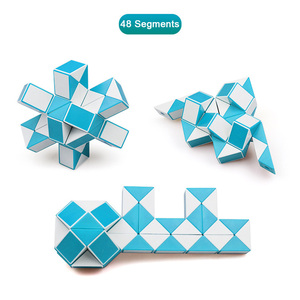 Image 5 - QIYI 48 Segments Magic Rule Snake Cube Elasticity Elastic changed Popular Twist Transformable Kid Puzzle Toy for Children