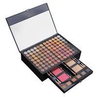 Color Eyeshadow Palette Set 92 Matt/pearl Eyeshadow + 2 Blush +2 Foundation Face Powder+6 Brow Powder Makeup Kit Cosmetics