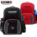 UNME luxury bags backpacks 2016 Children's handmade bags boys and girls primary school backpack schoolbag child protection bones