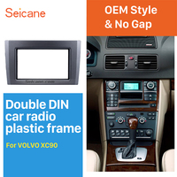 Seicane Double Din Car Radio Fascia Trim Kit for 2004 2013 Volvo XC90 DVD Panel Trim Dash Audio Fitting Adaptor Auto Stereo Trim