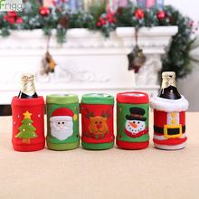Christmas Wine Bottle Cover Jewelry Decoration Cola Soda Beverage Set Supplies