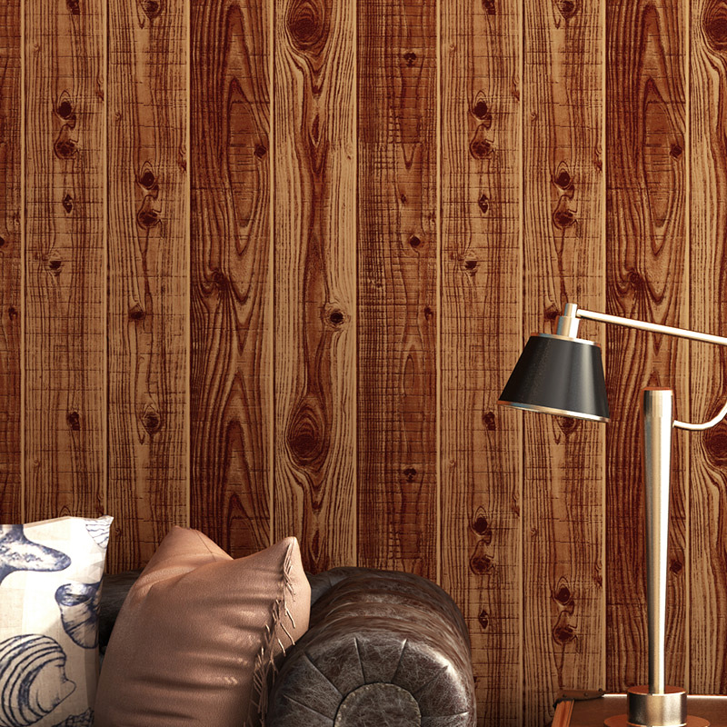 3D Stereo Wood Grain Wallpaper Retro Nostalgic Wood Texture Elegant Chinese Classical Style Wallpaper Home Decor Papel De Parede