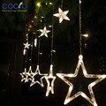 Luzes de natal, LED Estrela Cortina de Luz, luzes Do Feriado, 12 estrelas 200 cm de Comprimento 100 cm de Altura para o Feriado/Partido/Decoração do ano novo