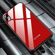 FLOVEME закаленное Стекло чехол для iPhone X 8 7 Plus Чехлы Оригинальный чехол для iPhone 7 8 Plus Silicon противоударный аксессуары