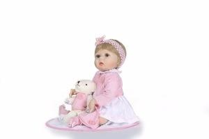 "Image 3 - NPk 22 ""בובת reborn צעצועי בני בנות מתנה מלא סיליקון גוף ויניל reborn תינוקות bebe אמיתי בחיים reborn bonecas brinquedo"