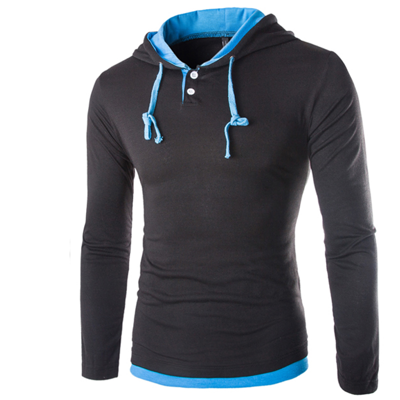 HTB10AzIKVXXXXX7XXXXq6xXFXXX2 - T Shirt Men Brand 2018 Fashion Men'S Hooded Stitching Design Tops & Tees T Shirt Men Long Sleeve Slim Male Tops  XXXL OOISH