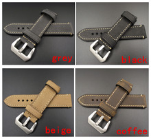 1PCS 20MM 22MM 24MM 26MM genuine leather Crazy horse leather Watch band watch strap man watch straps black coffee grey -WB12075