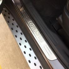Автомобиль Стайлинг для Mitsubishi Outlander 2013 2014 2015 2016 2017 Нержавеющаясталь порога протектор педали накладка охватывает 4 шт.