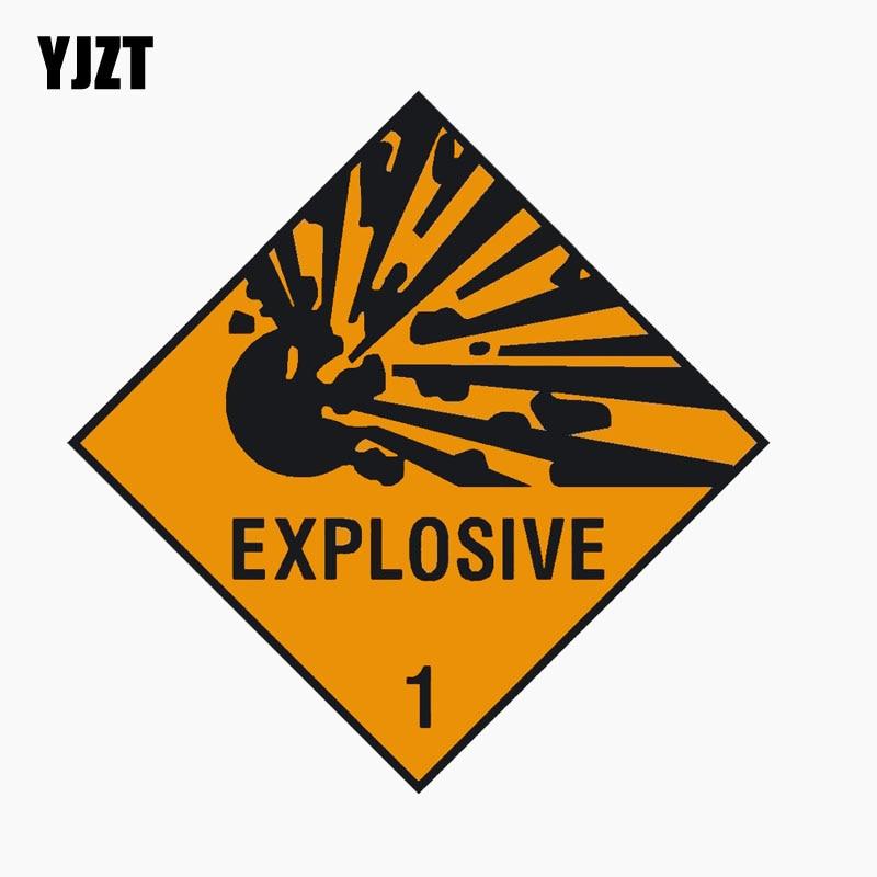 YJZT 10CM*10CM EXPLOSIVE WARNING NOTICE Warning Mark Personality Car Window Decal Reflective Car Sticker C1-7680