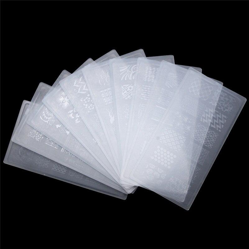 10 pcs plastico transparente conjunto da arte 04