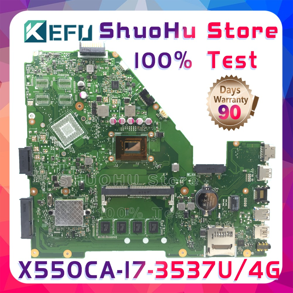цена на SHELI X550CA For ASUS X550CC R510C Y581C X550C X550CL CPU I7 4GMemory laptop motherboard tested 100% work original mainboard