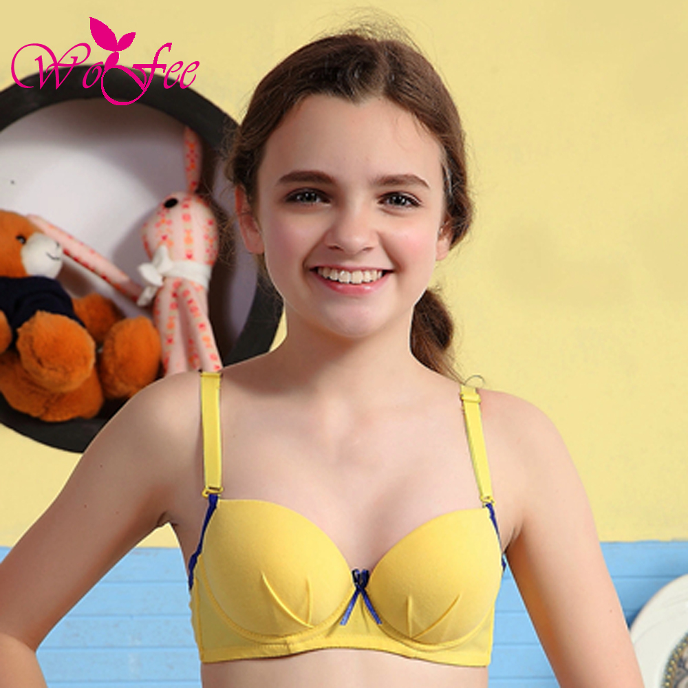 Young teen girl wearing bra reply, attribute