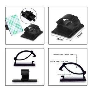 Image 5 - Keithnico 50 Stuks Adhesive Car Cable Organizer Clips Kabelhaspel Draad Management Drop Cord Klem Tie Fixer Auto Kabel Houder
