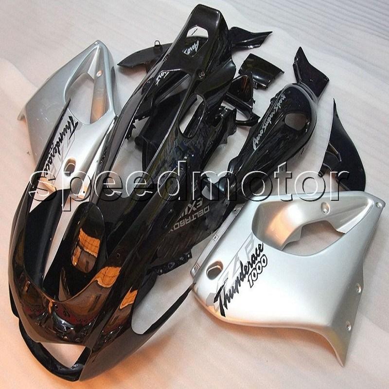 Custom YZF1000R SILVER BLACK Thunderace 1996 1997 1998 1999 2000 2001 2002 2003 2004 2005 2006 ABS motorcycle Fairing for Yamaha