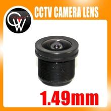 5pcs/lot 1.49mm lens F2.4 1/4″ M12 CCTV Board Lens For CCTV Security Camera /HD IP Camera Free Shipping