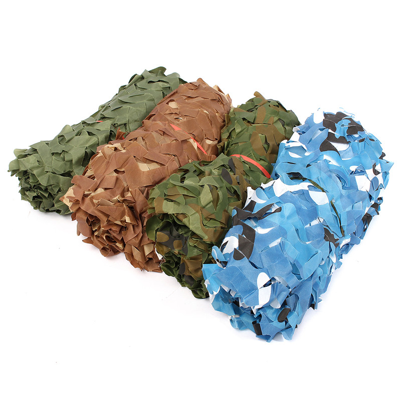 Image 4 - Military Camouflage Net Sun Shelter Woodland Army Camo Netting Hunting Camping Nets Car Covers Tent Shade 2m*4m/2m*5m/3m*5m-in Sun Shelter from Sports & Entertainment