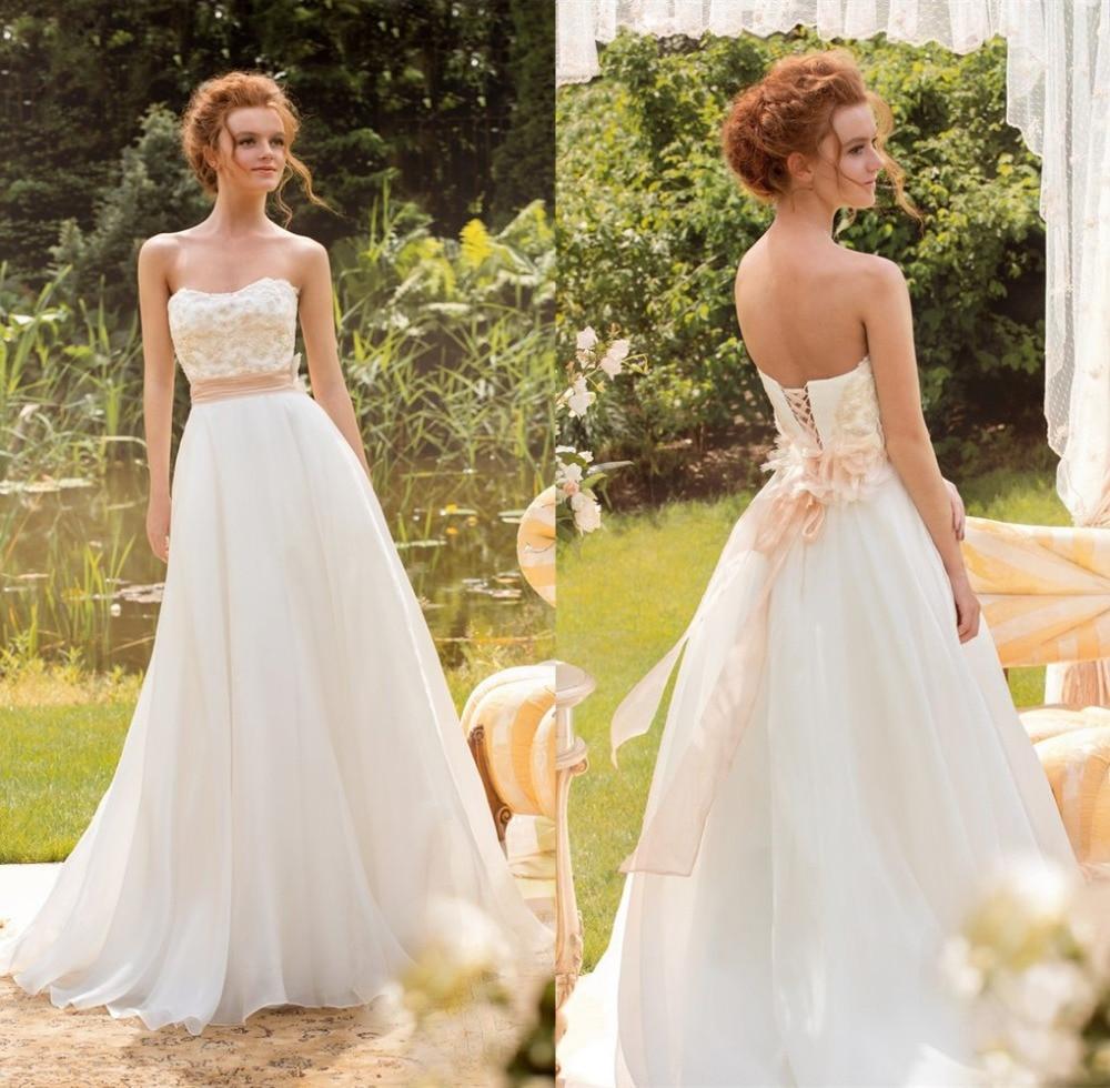 Aliexpress Com Buy Vestido De Noiva 2017 A Line Beach: Aliexpress.com : Buy Low Price Chiffon Beach Wedding Dress