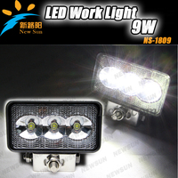 6000K Super Bright LED Work Light 9W CE RoHs IP68 Approval For Mining Agricultural And Heavy