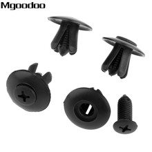 Mgoodoo 50Pcs/set 8mm Hole Door Rivet Plastic Clip Fasteners Black Auto For Cars C20 Rivets