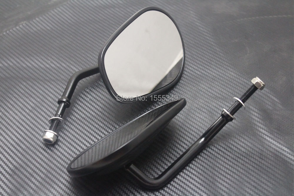 Roaopp Motorcycle Skull Plated Rearview Left & Right Mirrors For Harley Davidson Cruiser Sportster Xl Dyna Super Glide Softail Side Mirrors & Accessories