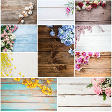 Wood Board Flower Photo Background Birthday Photocall Baby Shower Food Cake Photography Backdrops Fond Photographie Mariage(China)