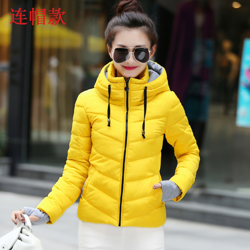 Pregnant women jacket 2018 new style Slim hood thick cotton jacket short paragraph to increase the coat 2017 autumn and winter new women in the long paragraph thick cotton jacket 3399