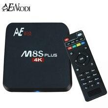ANEWKODI Android Tv Box M8S PLUS M8s + Quad-Core Smart TV Amlogic S905 KD 16.0 4 K 2G/16G WIFI Full HD Android 5.1 Médias lecteur