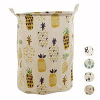 1PC New Cactus Pattern Drawstring Storage Bags Household Toys Dirty Clothes Foldable Colorful Storage Basket Storage