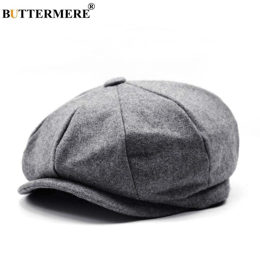 Vendedor de tapas de Tweed de espiga de invierno cálido octogonal sombrero  hombre mujer Gatsby Retro 6e005901f9a