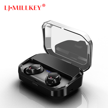 2018 New Bluetooth V5.0 TWS Earphone True Wireless Volume Control Earbud Waterproof Headset for Phone LJ-MILLKEY YZ207