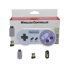 XBERSTAR 2.4GHZ Wireless Gamepad Joypad Joystick Controller for NES (SNES)Super Nintendo Classic MINI Console Gaming Accessories