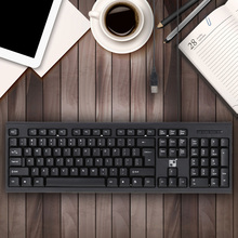 USB Wired 104 Key Ergonomic PC Desktop Computer Gaming Business Keyboard for Microsoft Office Working