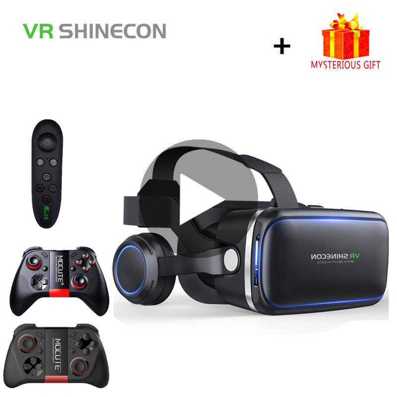 VR Shinecon 6.0 Casque Helmet 3D Glasses Virtual Reality Headset For iPhone Android Smartphone Smart Phone Goggles Len Lunette tech 2 scanner for sale