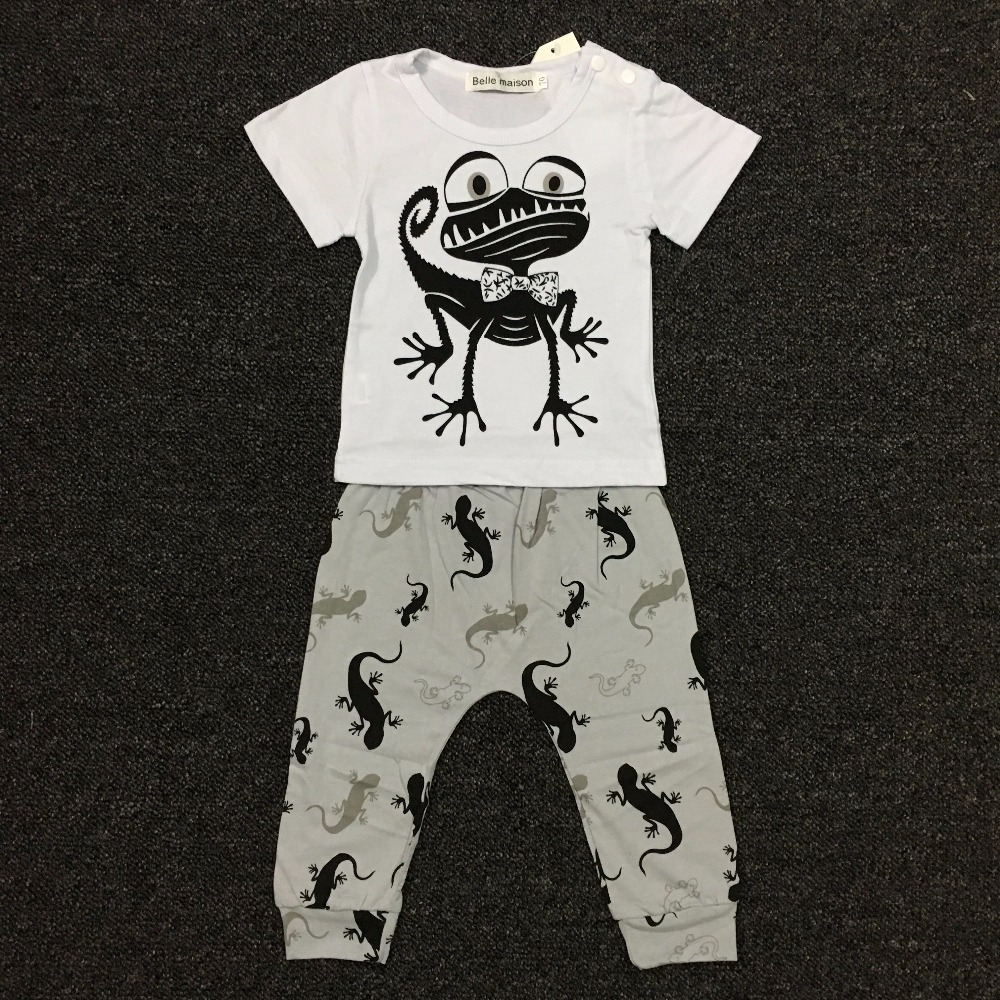 995c1c7da3b Baby boy clothes new 2019 fashion cotton cartoon t shirt+pants newborn  summer baby girl clothing set kids 2pcs suit-in Clothing Sets from Mother    Kids on ...