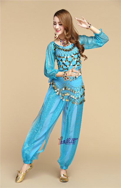 951e42221 The new spring and summer belly dance suit long sleeve Indian dance ...