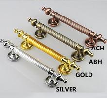 350 260mm unfold install vintage  modern style big gate doot handles silver gold antique copper antique brass wooden door  pulls