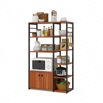 Shelf Kitchen Microwave Rack Multi-layer Multi-function Kitchen Storage Floor-standing Seasoning Dish Rack Space Saving